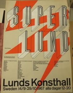 """Affiche """"Super Lund"""", 1967"""