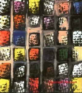 Photographie projetée sur toile rehaussée à l'huile, 180x116 cm, copyrightY.Neiman, www.yehudaneiman.com