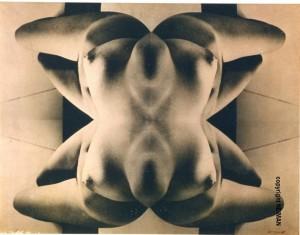 """Neiman, Sculpture, report photographique sur toile, virage """"flesh"""", 89x116 cm, 1965"""