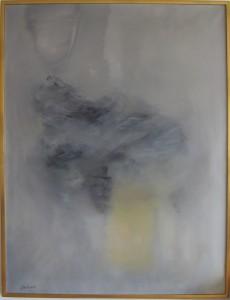 Composition, huile sur toile, 116x89 cm, 1959